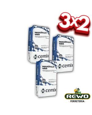 CEMIX PEGAZULEJO GRIS SACO 20 KG 3x2