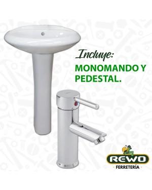 PAQUETE LAVABO MARRUECOS (INCLUYE MONOMANDO Y PEDESTAL)